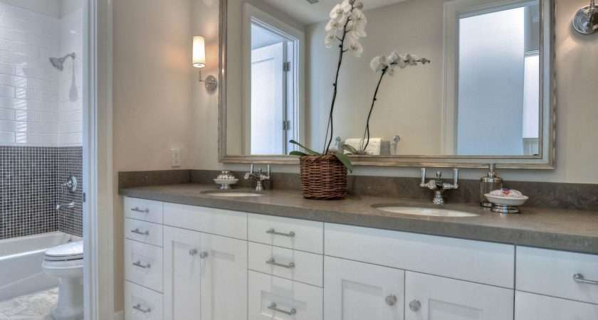 Contemporary White Bathroom Airy Chic Shades Gray