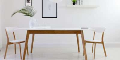 Contemporary White Dining Table Best Small Room