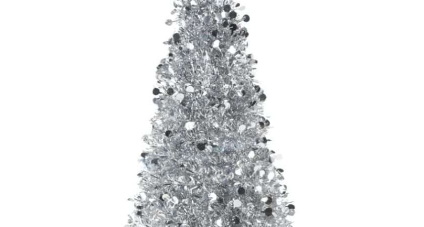 Continue Shopping Silver Effect Led Tinsel Christmas