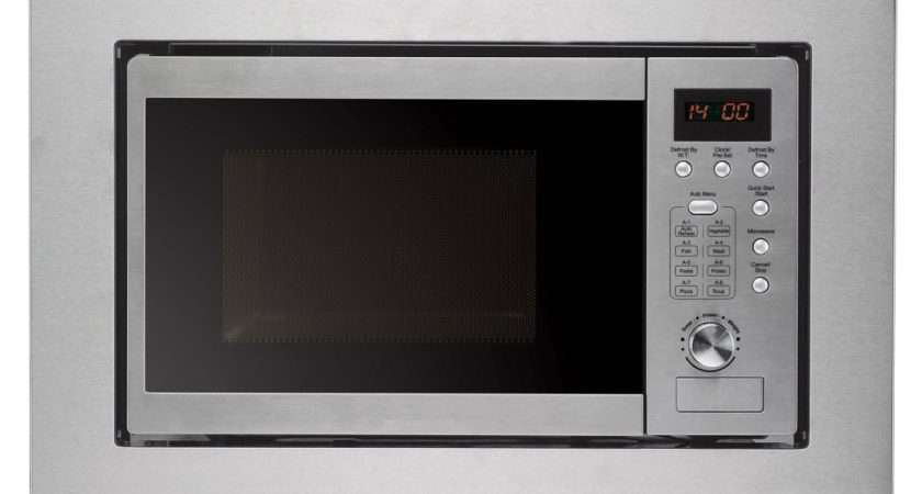 Cookology Integrated Microwave Stainless Steel Built