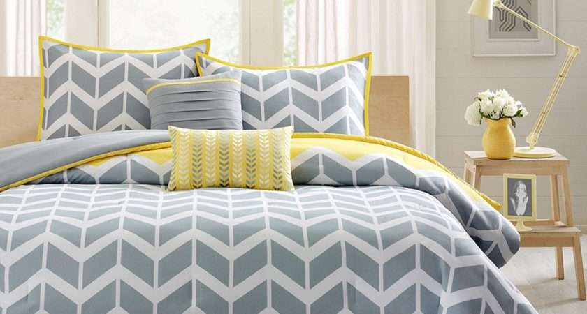 Cool Elegant Grey Yellow Bedroom Sweet Home