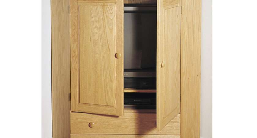 Corner Cabinet Provides Handsome Place Hide Behind