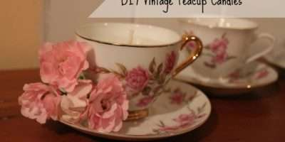 Cottage Diaries Diy Vintage Teacup Candles