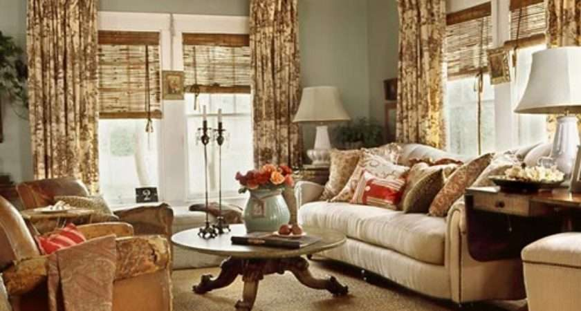 Cottage Living Room Curtain Ideas Interior Design