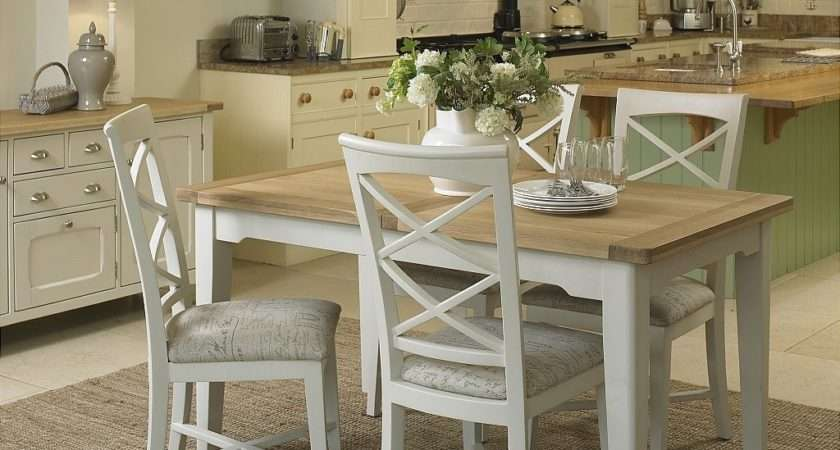 Cottage Oak Painted Small Extending Dining Table