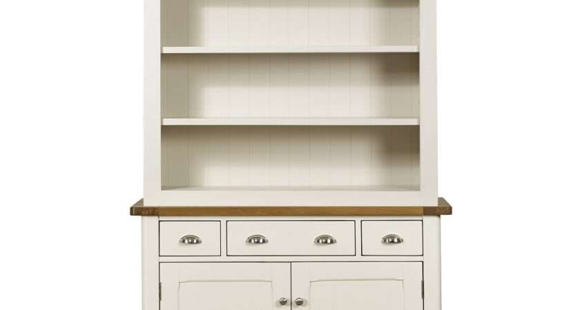 Cottage Oak Painted Welsh Dresser Display Unit