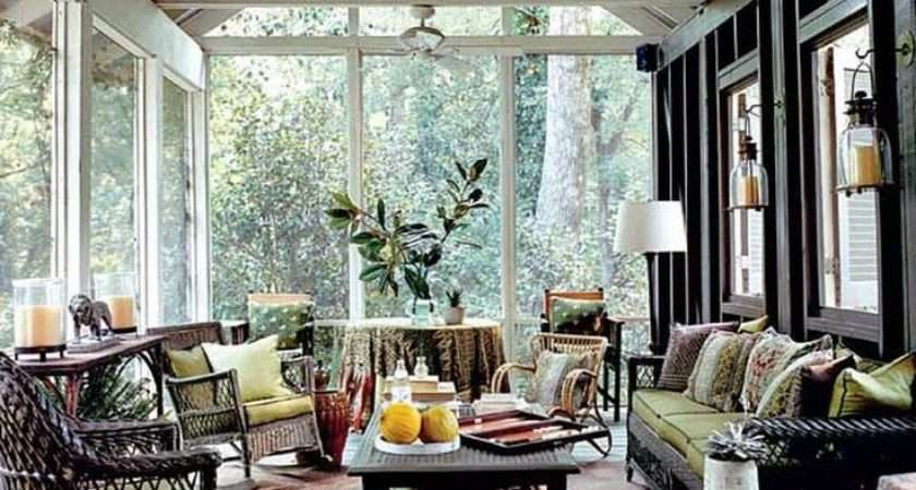Cottage Screened Porch Decorating Ideas House Pinterest