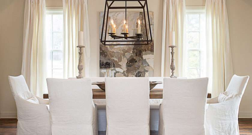 Cottage Vine Slip Covered Dining Chairs