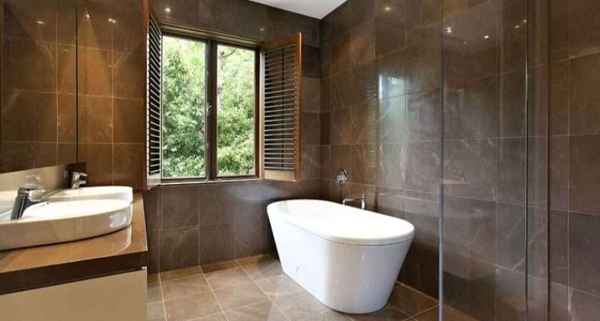 Country Bathroom Design Freestanding Bath Using Frameless Glass
