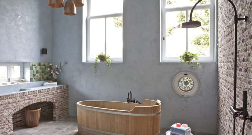 Country Bathroom Ideas Rustic Decorating