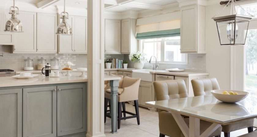Country Green Kitchen Cabinets Gray White