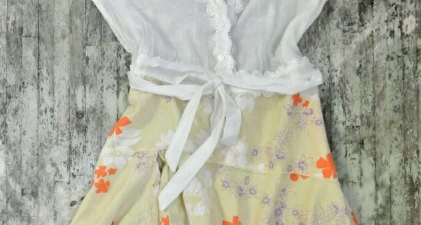 Country Shabby Chic Dress Cottage Autumn Clothing