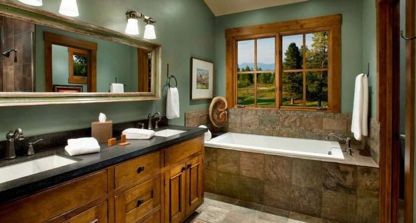 Country Style Bathroom Top Designs