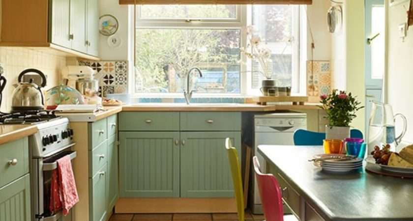 Country Style Green Kitchen Decorating Housetohome