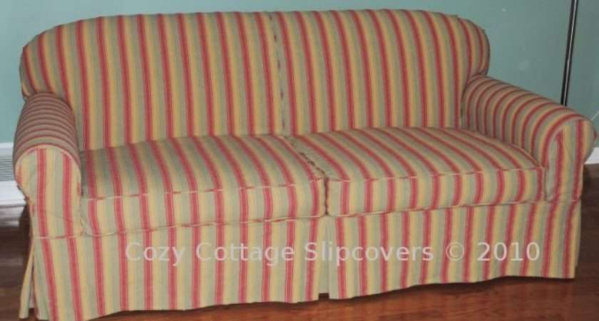 Cozy Cottage Slipcovers Striped Slipcover