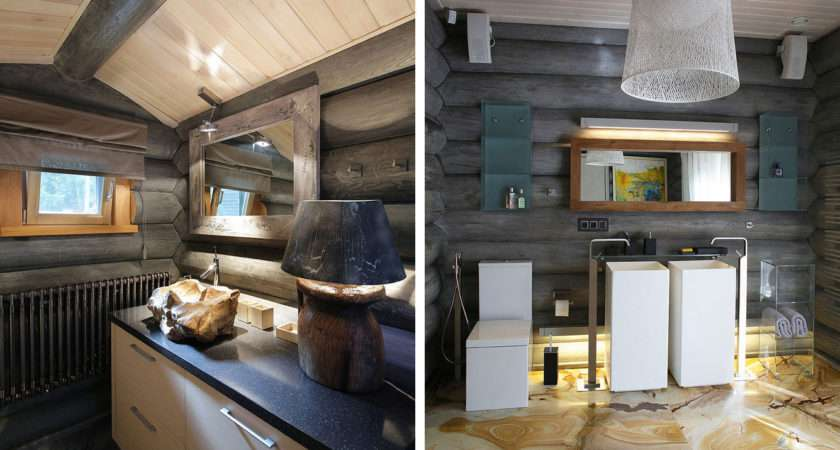 Cozy Wooden Log Cottage Eclectic Interiors Digsdigs
