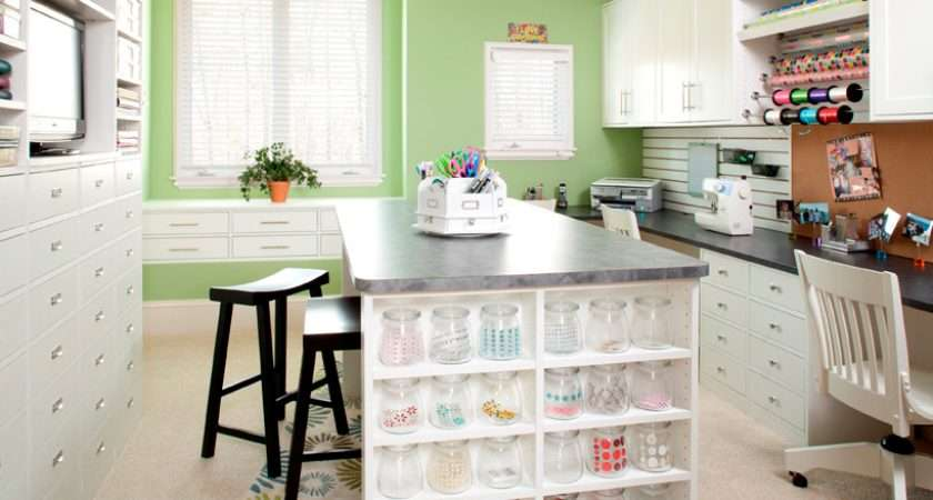 Craft Room Love Green