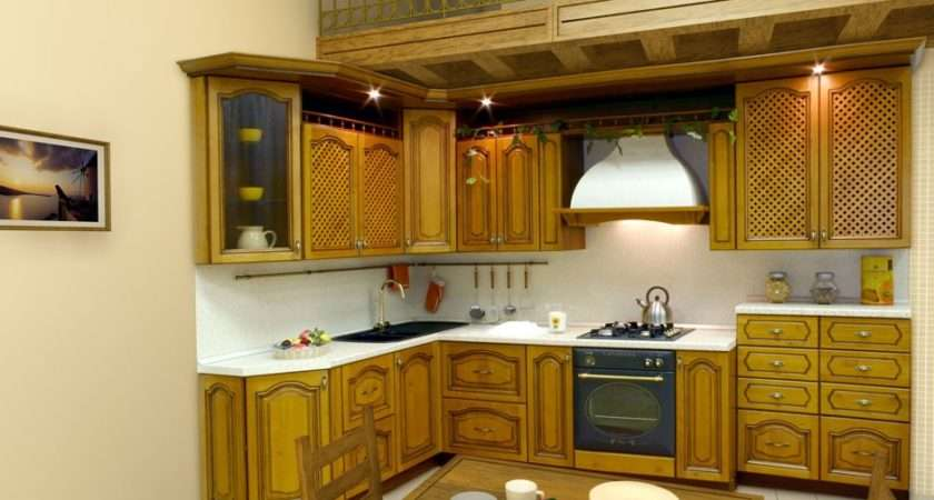 Cream Wall Yellow Wood Latest Kitchen Design Home Advice