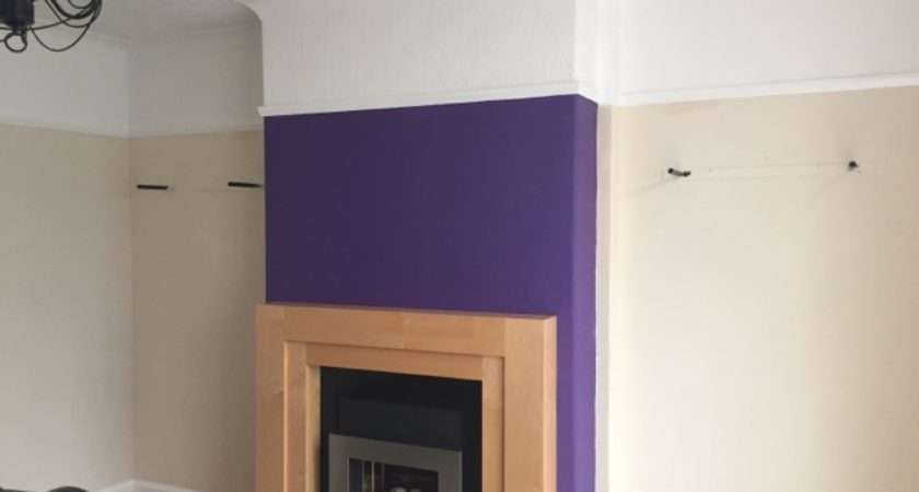 Creating Feature Wall Using Dulux Paint Diy Daddy