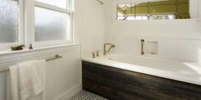 Creating Natural Feel Wood Contemporary Bathrooms