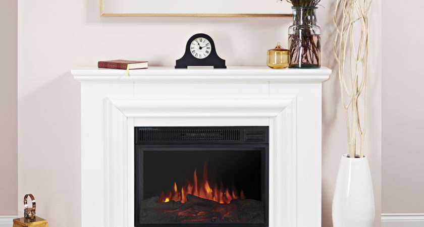 Crystal Pure White Remote Control Electric Fire Suite Ebay