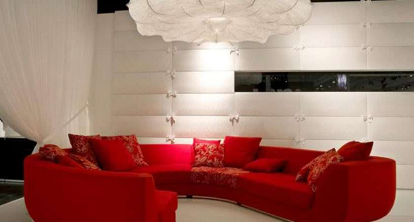 Curtain Color Goes Red Sofa