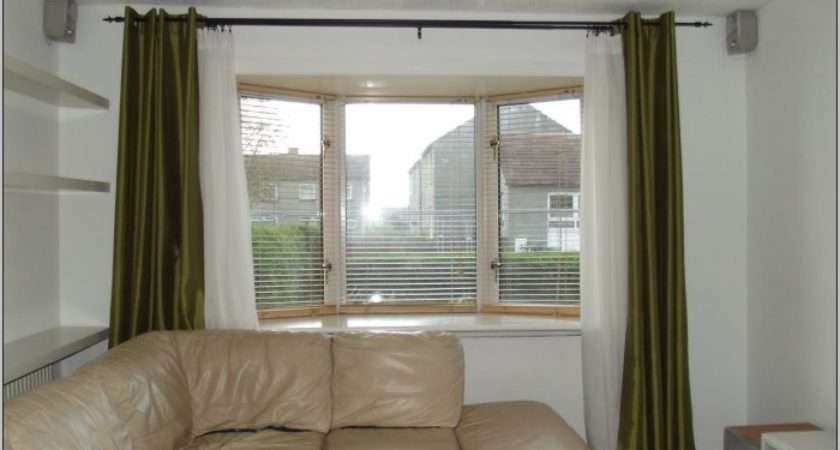 Curtain Rods Bay Window Curtains Home Design Ideas Wde Zegn