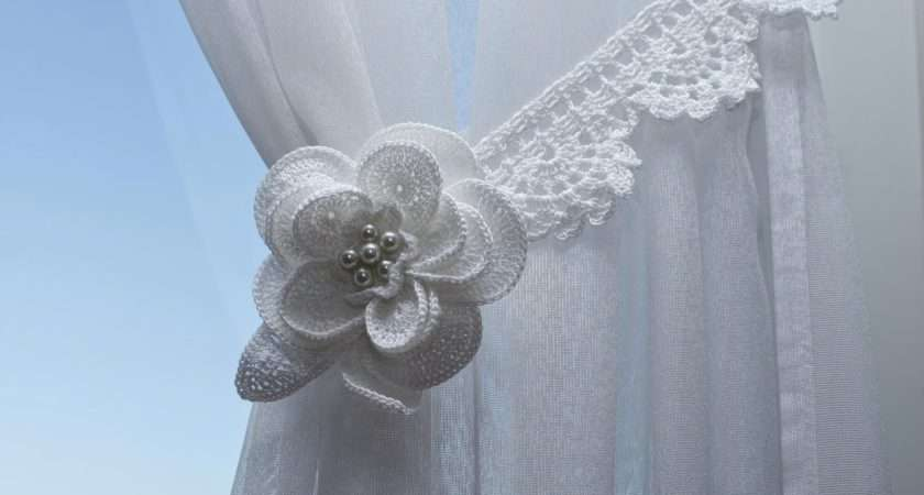 Curtain Tie Backs Made Handmade Crochet Flower Lace