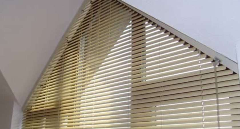 Curtains Large Window Triangle Blinds