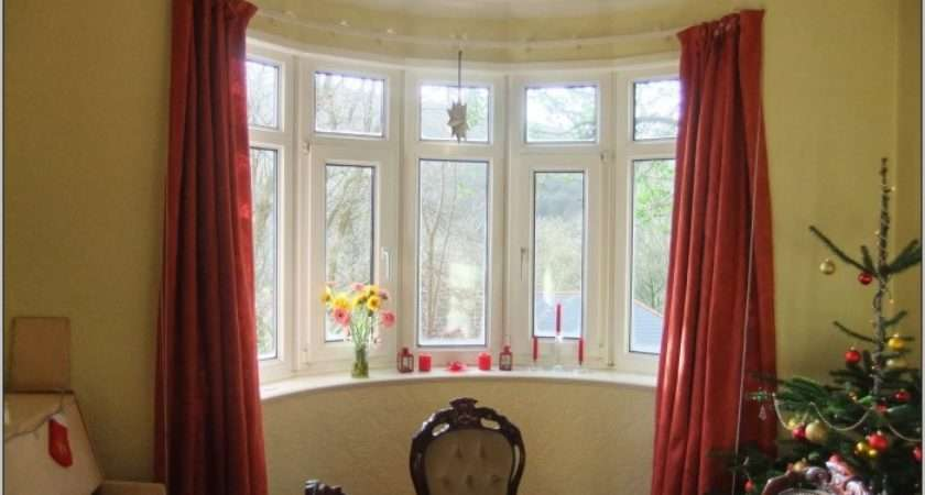 Curved Bay Window Curtain Rods Curtains Home Design Ideas