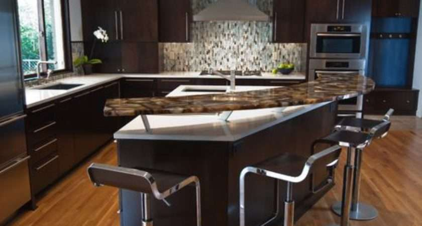 Curved Breakfast Bar Home Design Ideas Remodel