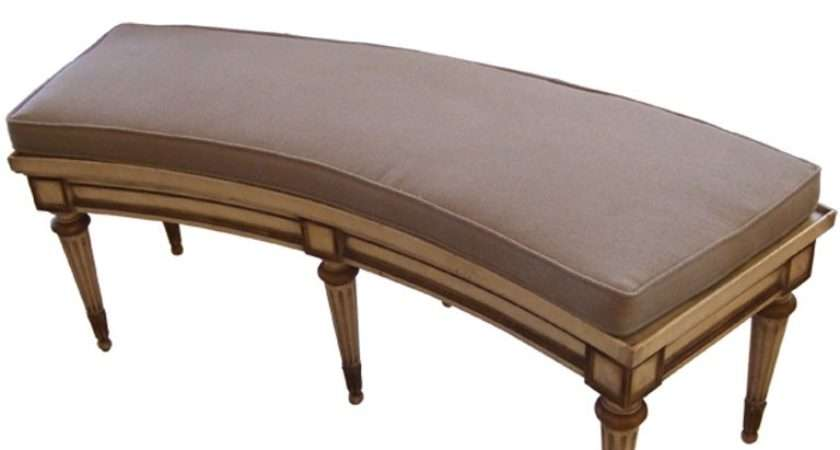 Curved French Style Bench Stdibs