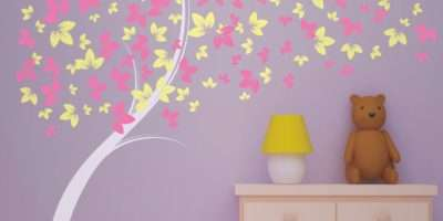 Curvy Blowing Tree Vinyl Wall Decal Great Little