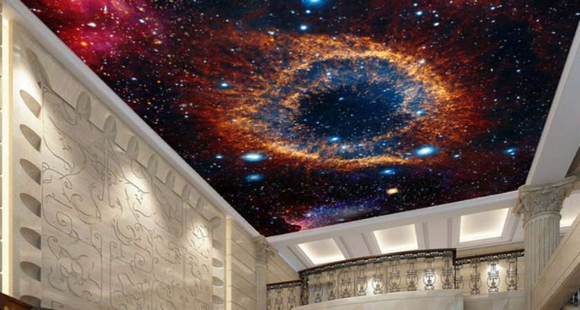 Custom Ceiling Space Star Murals