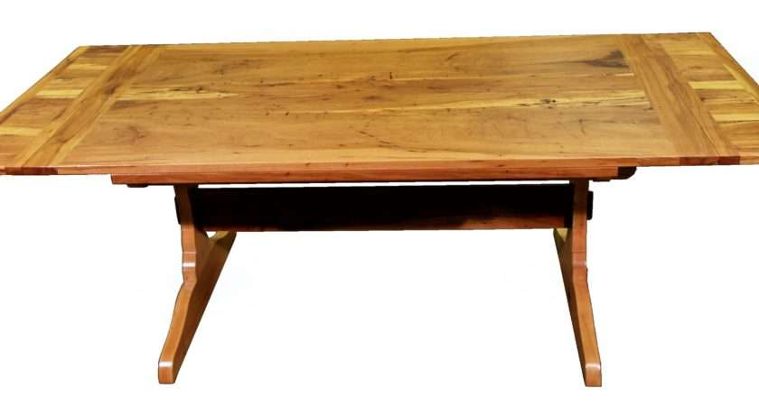 Custom Trestle Style Dining Table Self Storing Leaves Made
