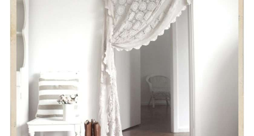 Cute Idea Lace Curtain Beach Cottage