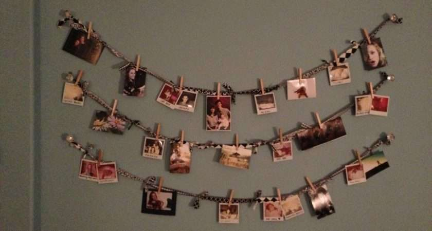 Cute Simple Way Hang Photos Without Frames Tape