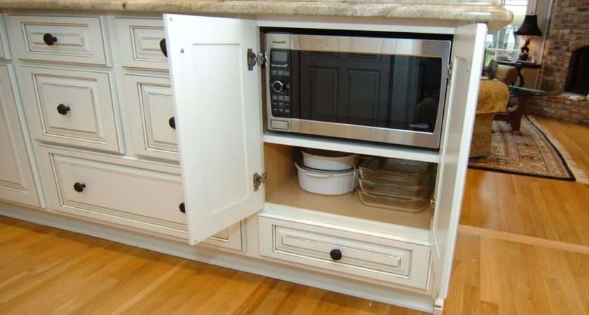 Dallas Microwave Cabinet Ideas Kitchen Traditional