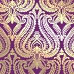 Damask Bedroom Gold Plum