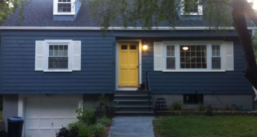 Dark Blue House Black Shutters Imgkid