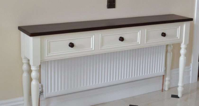 Deanery Hall Table Radiator Cover Dark Stain Pine Top