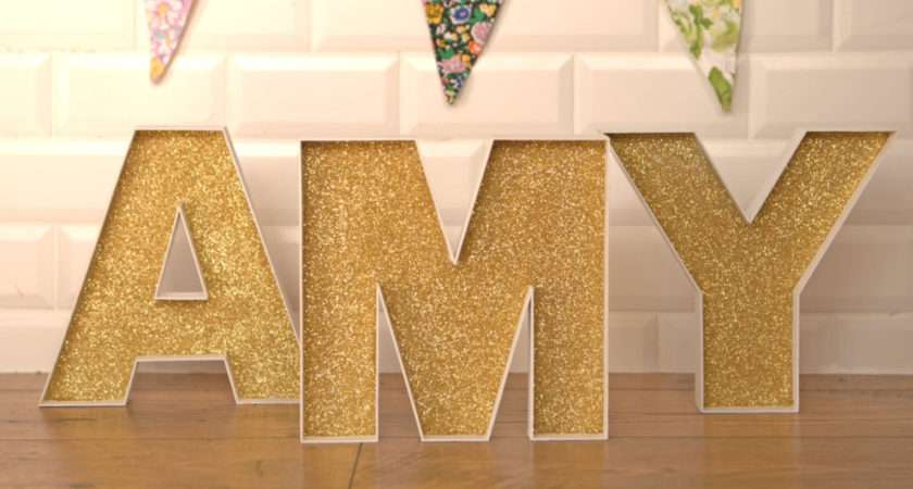Decorate Fillable Wooden Letters Glitter Homecraft