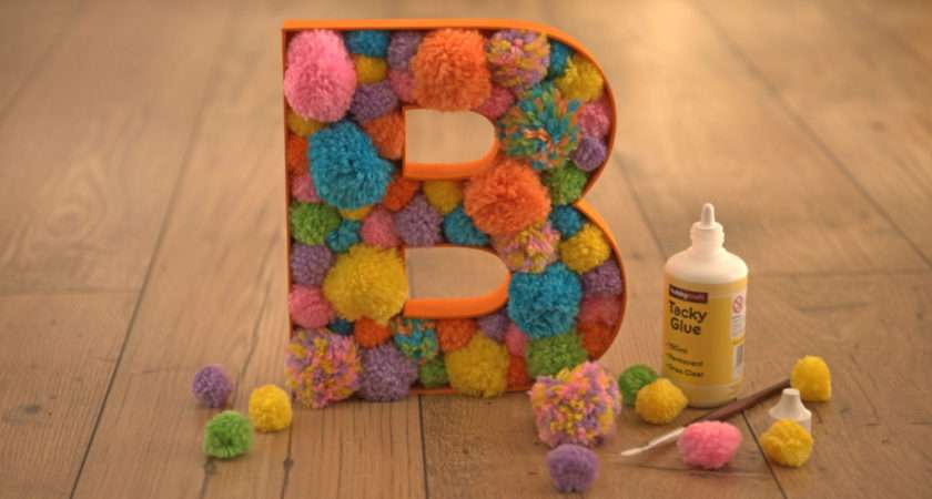 Decorate Fillable Wooden Letters Pompom Homecraft