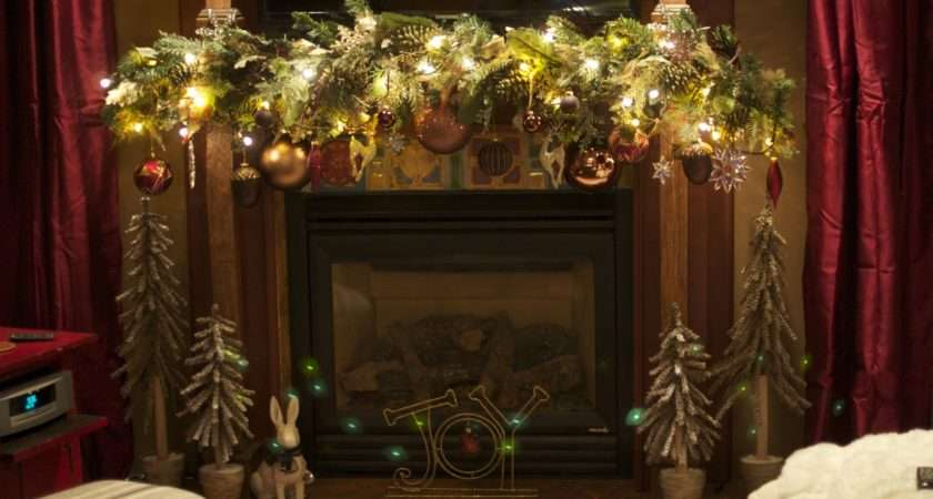 Decorate Fireplace Mantel Christmas Design Your Decorating