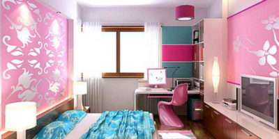 Decorate Girly Bedroom Cute Pink Inspiring Design