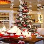 Decorate House Christmas Wooden Dining Table