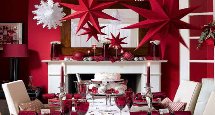 Decorate Table Christmas Red