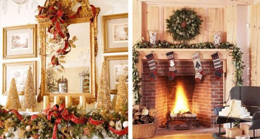 Decorate Your Mantel Chimney Christmas Let