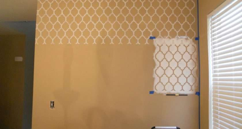 Decorating Cents Stenciled Wall