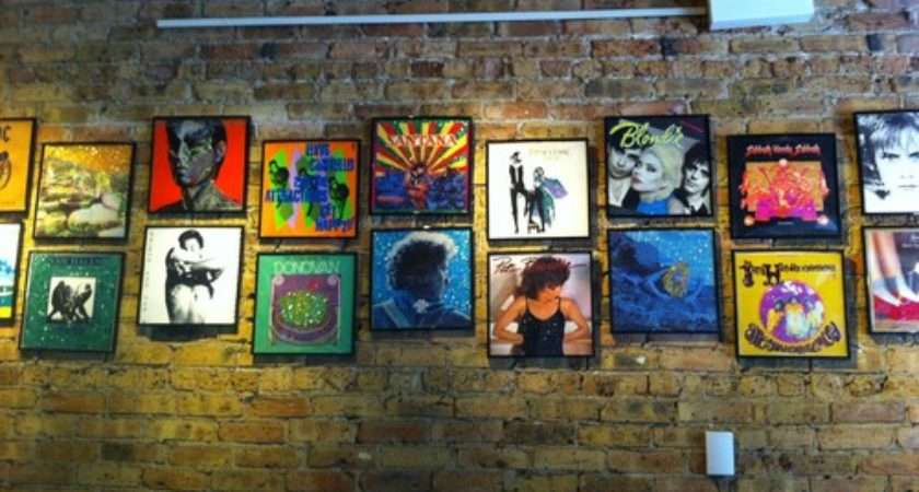 Decorating Framed Record Album Covers Rainbow Wall